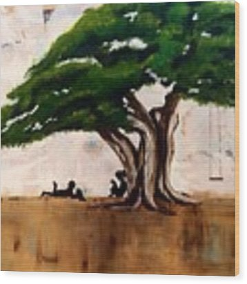 Protected Wood Print by Patti Ferron