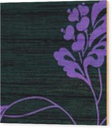 Purple Glamour On Black Weave Wood Print by Writermore Arts