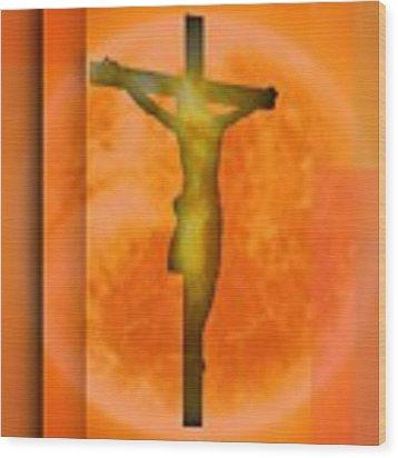 Redish Environmet Crucifixion, Wood Print by Alberto RuiZ