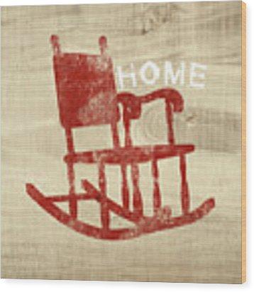 Rocking Chair Home- Art By Linda Woods Wood Print by Linda Woods