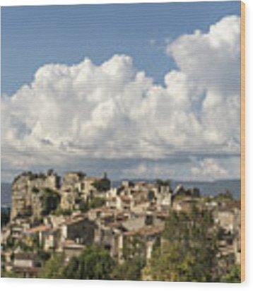 Saignon Village Provence  Wood Print by Juergen Held