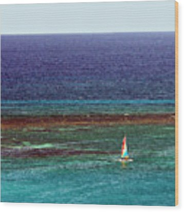 Sailing Day Wood Print by Karen Zuk Rosenblatt