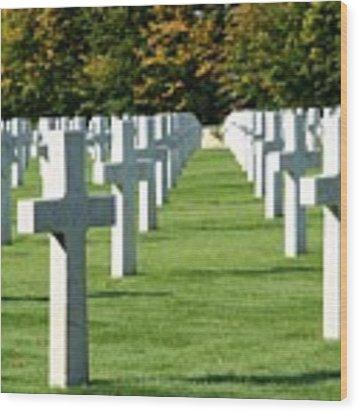 Saint Mihiel American Cemetery Wood Print by Travel Pics