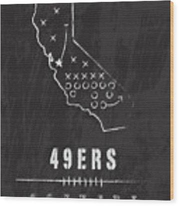 San Francisco 49ers Art - Nfl Football Wall Print Wood Print by Damon Gray