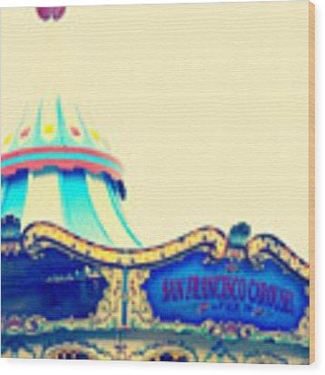 San Francisco Pier 39 Carousel Wood Print