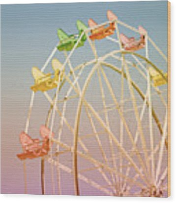 Santa Cruz Ferris Wheel Wood Print