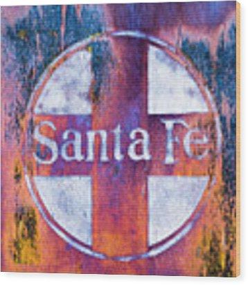Santa Fe Rr Wood Print by Lou Novick