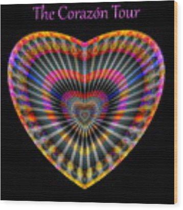 Santana The Corazon Tour Wood Print by Visual Artist Frank Bonilla