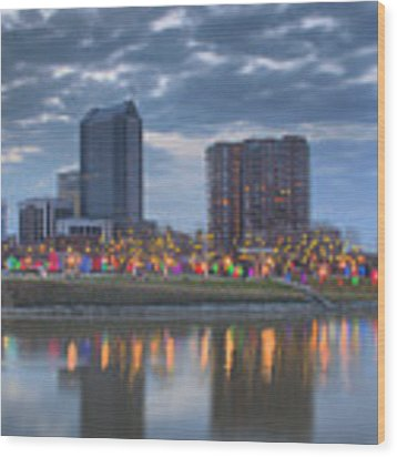 Scioto Morning 3567 Wood Print by Brian Gryphon