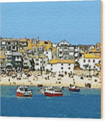 Sea And Sky Wood Print by Julian Perry