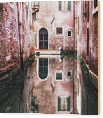 Secluded Venice Wood Print by Miles Whittingham