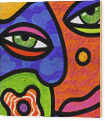 Shirley Whirly-gig Wood Print