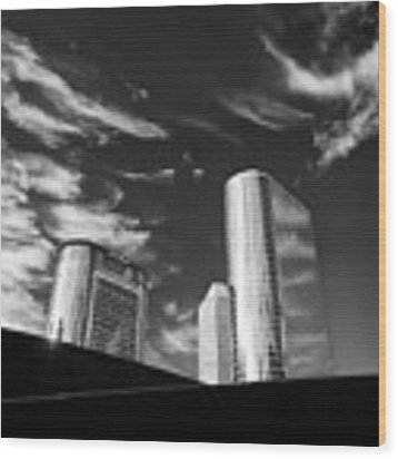 Silver Towers Wood Print by Dave Bowman