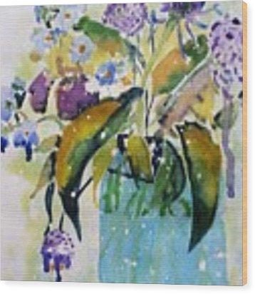 Singing The Blues Wood Print by Patti Ferron