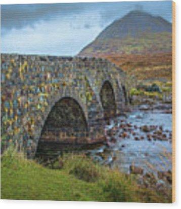 Sligachan Bridge View #h4 Wood Print by Leif Sohlman