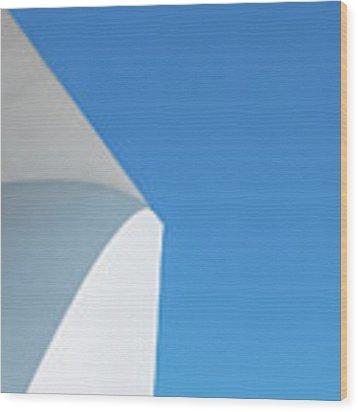 Soft Blue Wood Print by Eric Lake