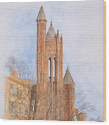 State Street Church Wood Print by Dominic White