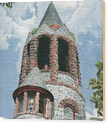 Stone Church Bell Tower Wood Print by Dominic White