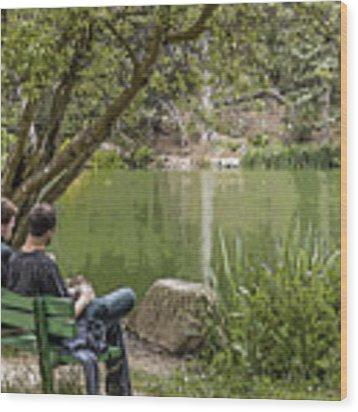 Stow Lake Wood Print by Kate Brown