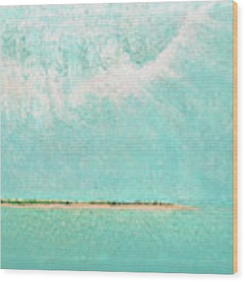 Subtle Atmosphere - Triptych 2 Of 3 Wood Print by Jaison Cianelli