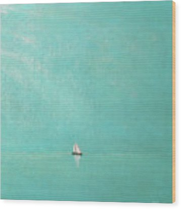 Subtle Atmosphere - Triptych 3 Of 3 Wood Print by Jaison Cianelli