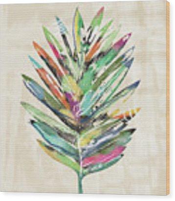 Summer Palm Leaf- Art By Linda Woods Wood Print by Linda Woods