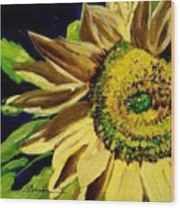Sunflower Glow Wood Print by Patti Ferron