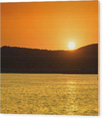 Sunset At Pichola Lake Wood Print by Yew Kwang