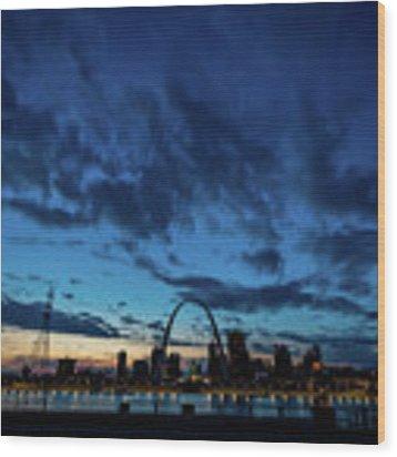 Sunset St. Louis IIi Wood Print by Matthew Chapman