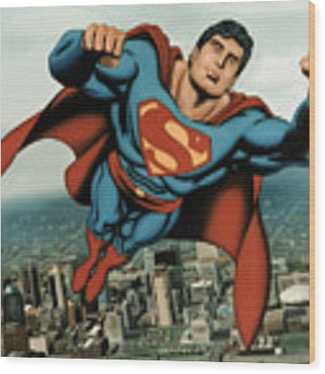 Superman Wood Print
