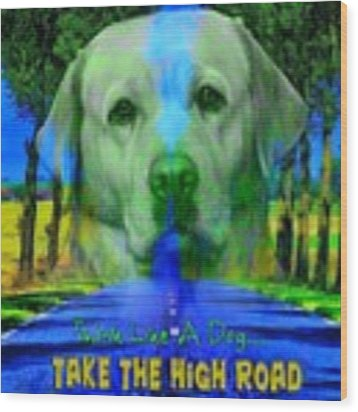 Take The High Road Wood Print by Kathy Tarochione