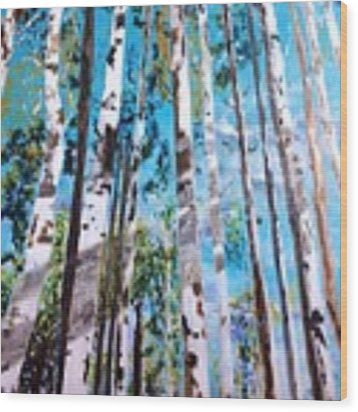 Tall Whites Wood Print by Patti Ferron