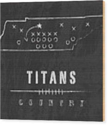Tennessee Titans Art - Nfl Football Wall Print Wood Print by Damon Gray
