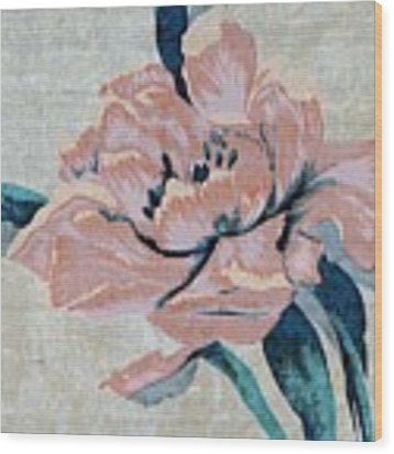 Textured Floral No.2 Wood Print by Writermore Arts