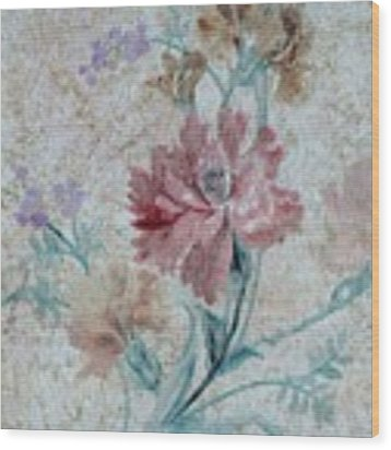 Textured Florals No.1 Wood Print by Writermore Arts