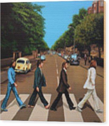The Beatles Abbey Road Wood Print