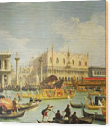 The Betrothal Of The Venetian Doge To The Adriatic Sea Wood Print