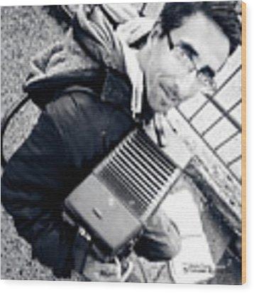 The Brave Accordion Player Wood Print by Stwayne Keubrick