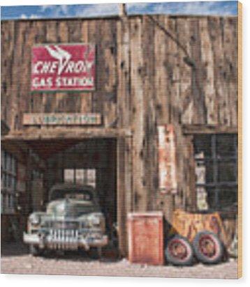 The Chevron Station  Wood Print by Kristia Adams