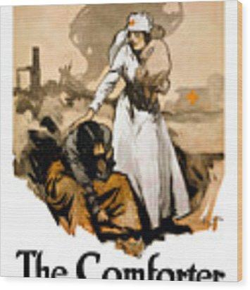 The Comforter - World War One Nurse Wood Print