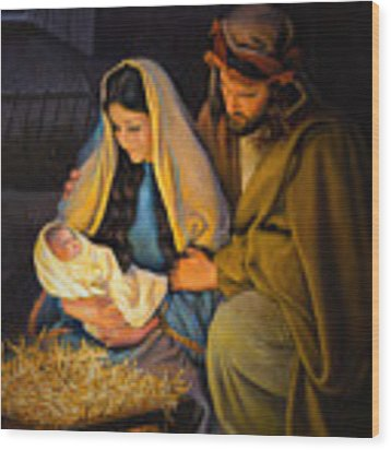 The Holy Family Wood Print by Greg Olsen