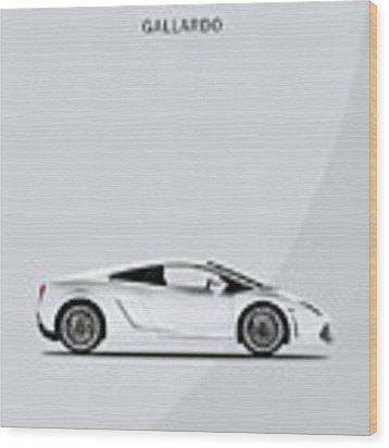 The Lamborghini Gallardo Wood Print by Mark Rogan