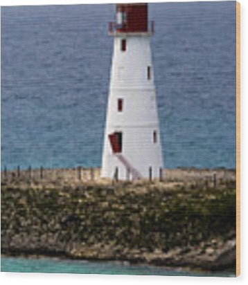 The Nassau Lighthouse Wood Print by Ed Gleichman