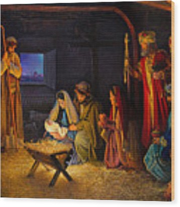 The Nativity Wood Print by Greg Olsen