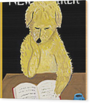 The New Yorker Cover - February 1, 1999 Wood Print by Maira Kalman