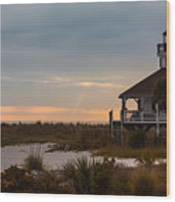 The Port Boca Grande Lighthouse Wood Print by Ed Gleichman