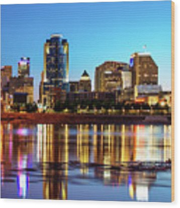The Vibrance Of The Queen City - Cincinnati Skyline Wood Print by Gregory Ballos