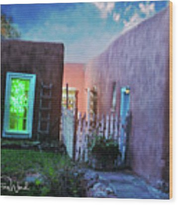Twilight On Bent Street Wood Print by Kate Word