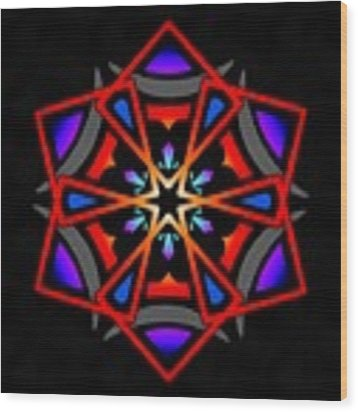 Utron Star Wood Print by Derek Gedney