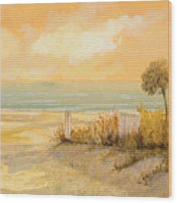 Verso La Spiaggia Wood Print